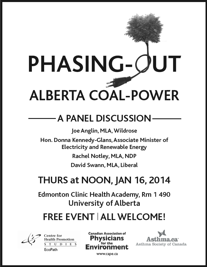 Phasing-Out Alberta Coal-Power Event Poster