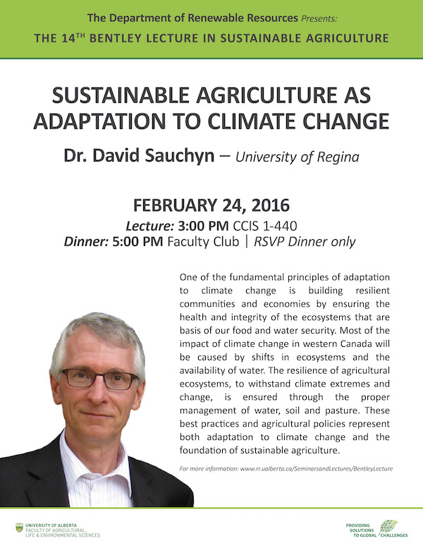 Bentley Lecture in Sustainable Agriculture Poster
