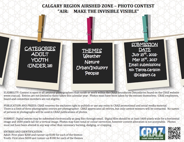 Calgary Region Airshed Zone — Photo Contest Poster