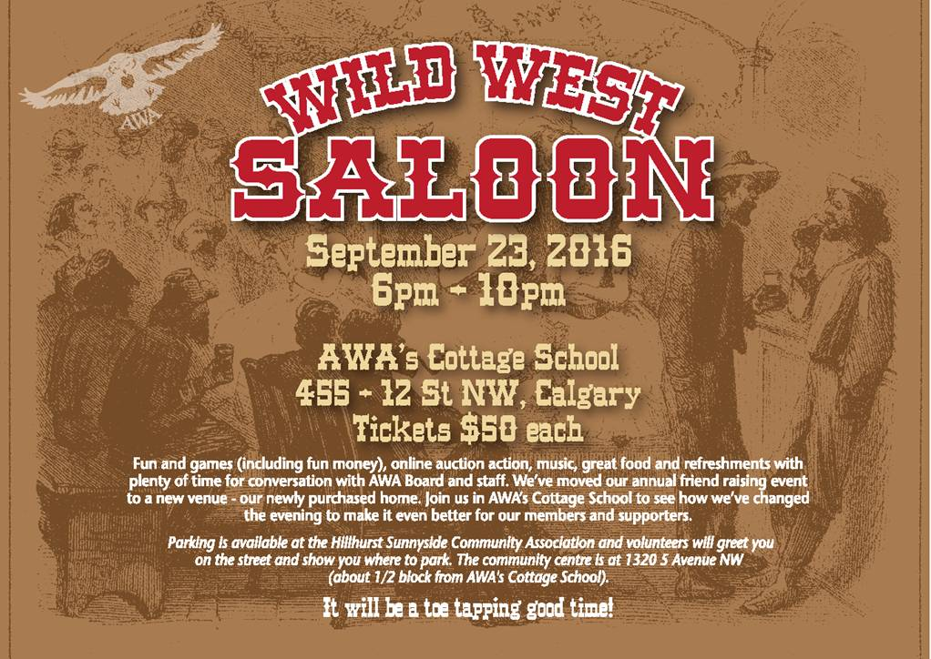 AWA Wild West Saloon Poster