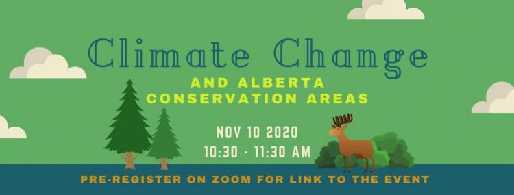 Climate Change & Alberta Conservation Areas Banner