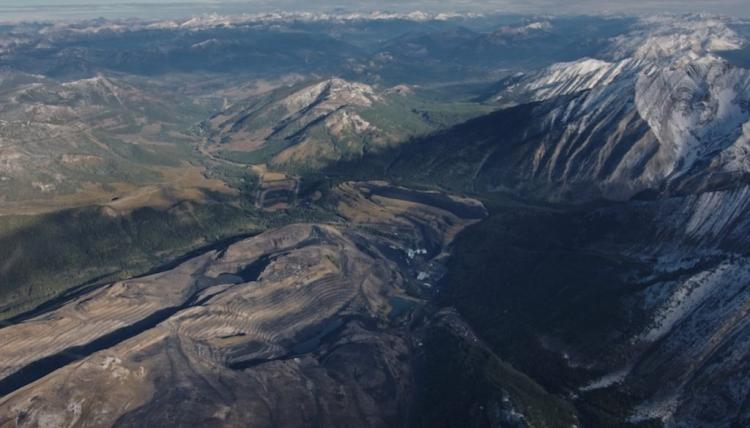 Photo of a mountain top coal mine
