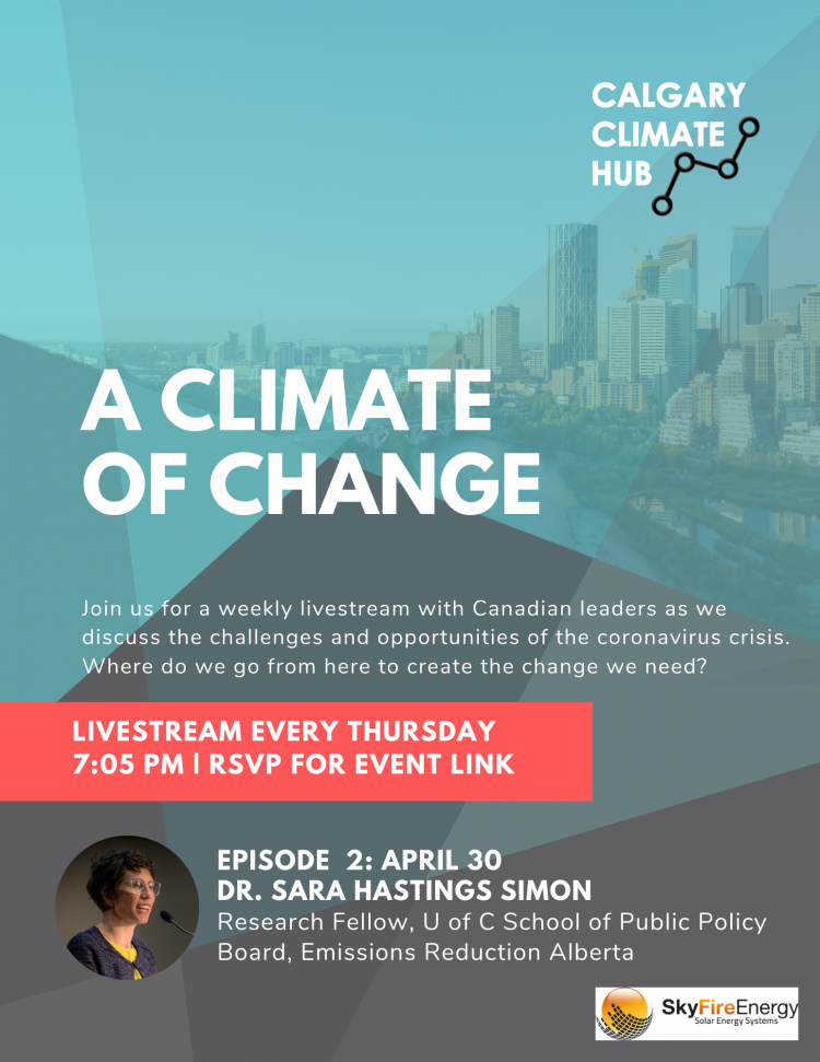 A Climate of Change Poster with Dr. Sara Hastings Simon
