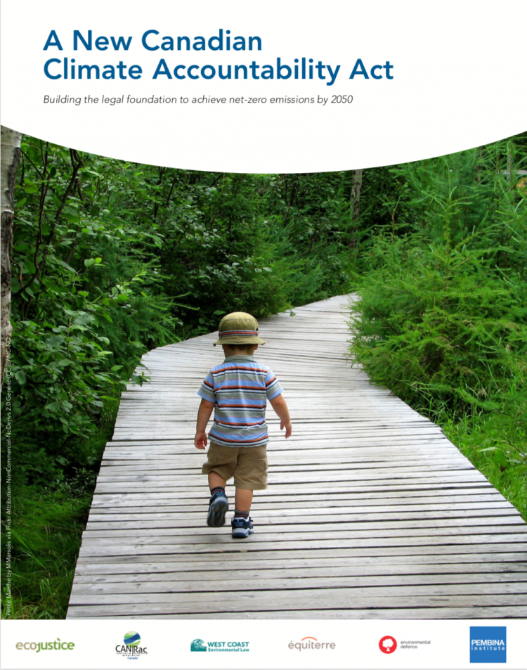 Cover - Policy Brief: A New Canadian Climate Accountability Act