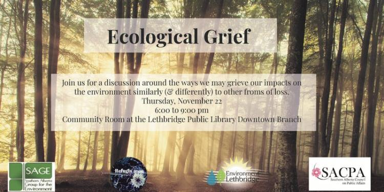 Ecological Grief Banner.