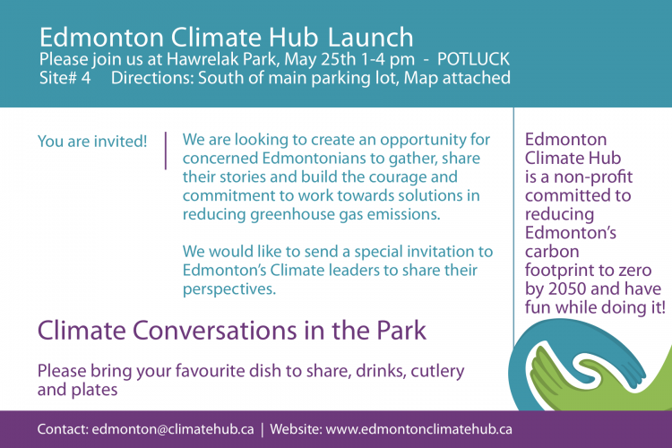 Edmonton Climate Hub Launch - May 25