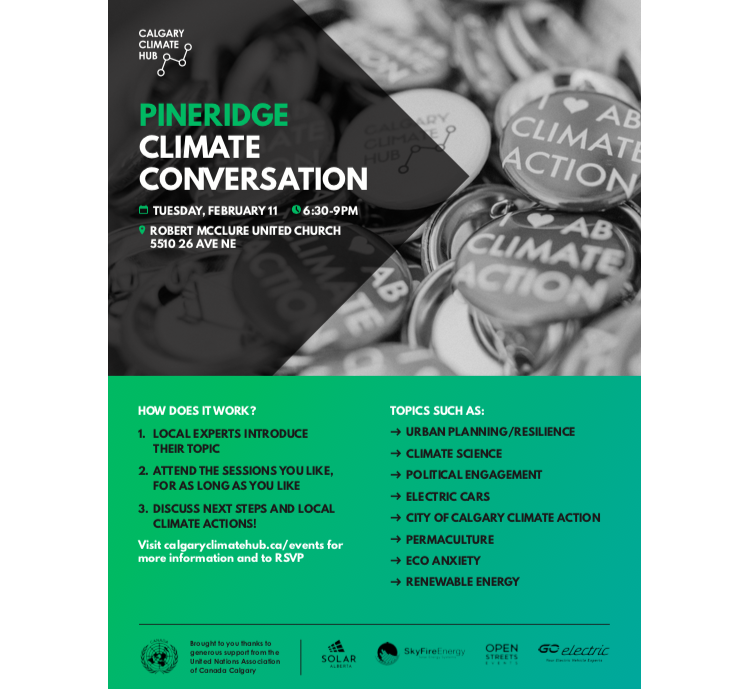 Pineridge Climate Conversation Poster