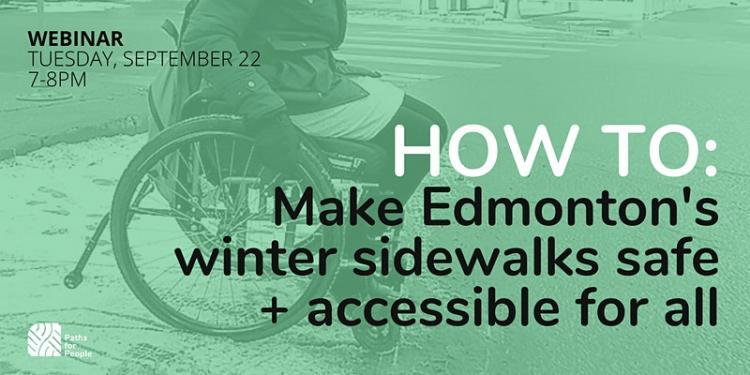 HOW TO: Make Edmonton's winter sidewalks safe + accessible for all (image of wheelchair user on slushy sidewalk)