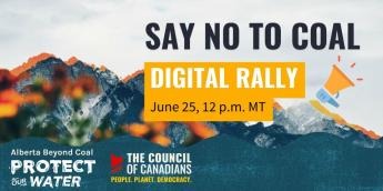 Say No to Coal Digital Rally June 25, 12:00 NOON